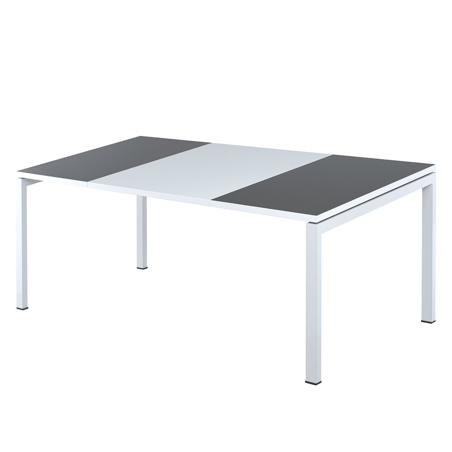 Bureau easyDesk - Wit/antracietkleurig - 180x80cm, easy Office und Paperflow