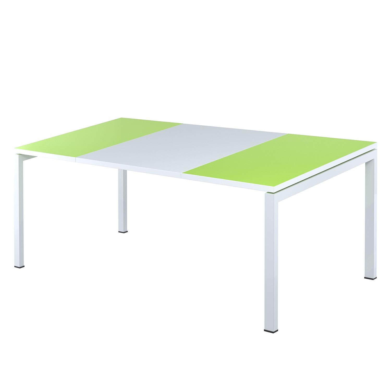 Schreibtisch easyDesk - Weiß / Grün - 140 x 80 cm, easy Office und Paperflow