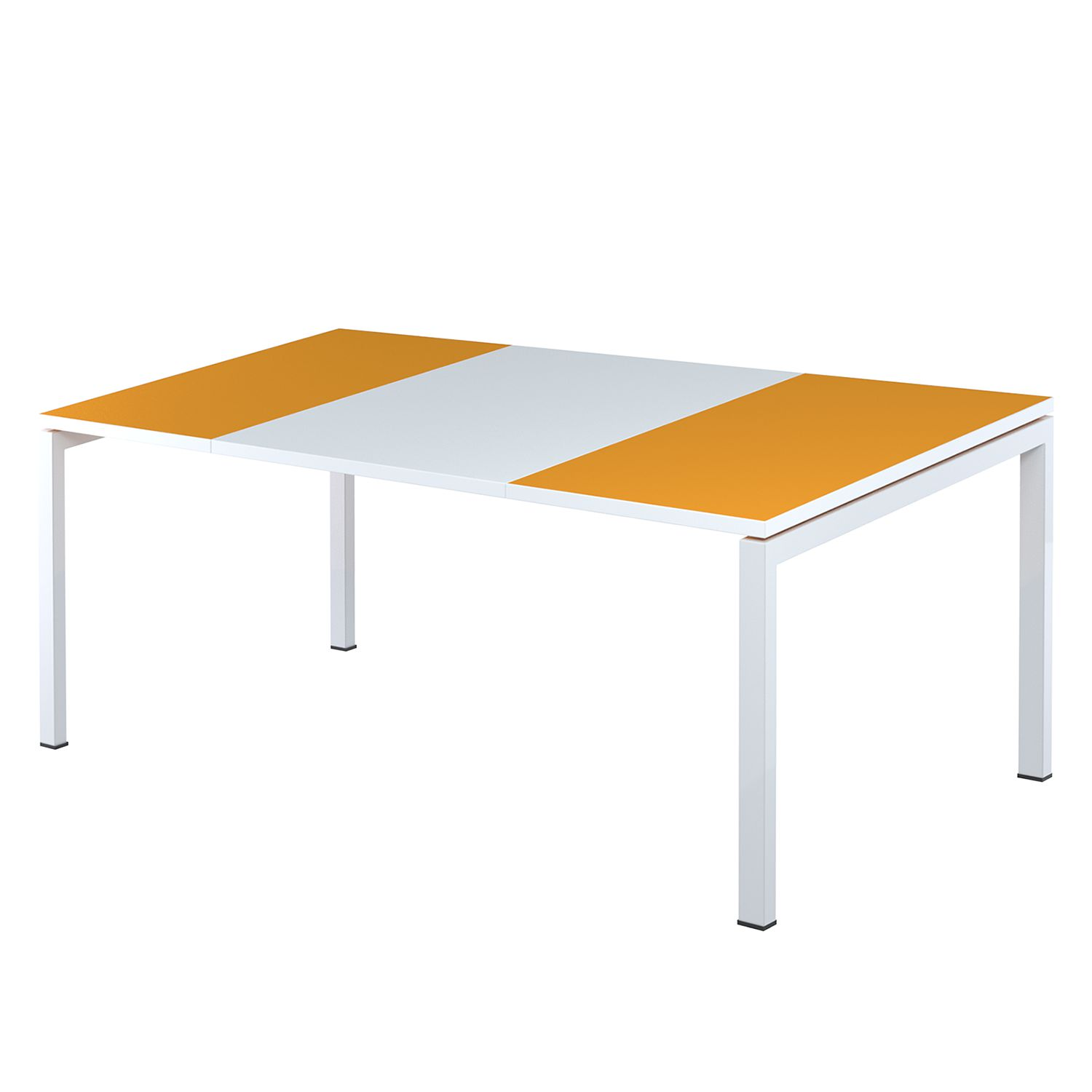 Bureau easyDesk - Wit/oranje - 160x80cm, easy Office und Paperflow