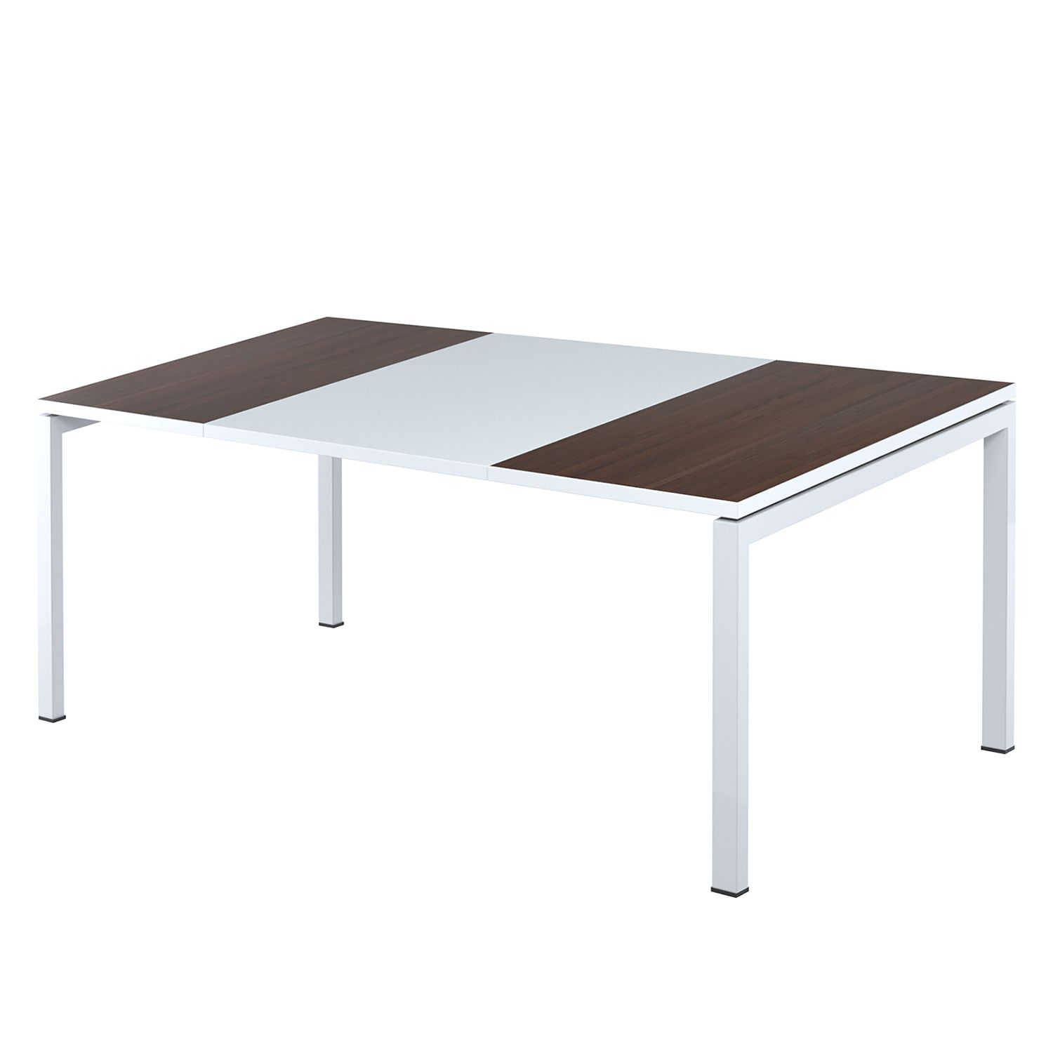 Bureau easyDesk - Wit/wengéhout - 180x80cm, easy Office und Paperflow