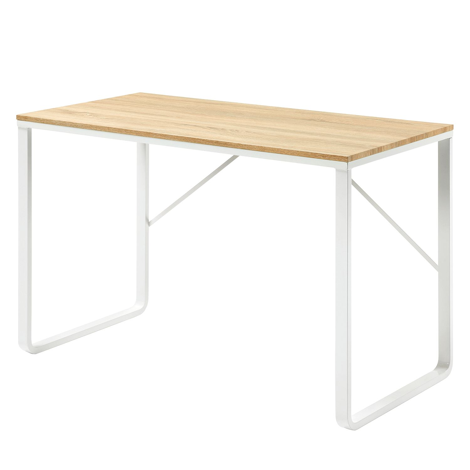 Home 24 - Bureau fertilia - imitation peuplier / blanc, morteens