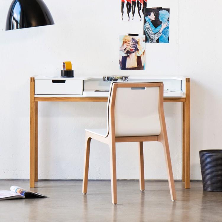 schreibtisch halling ausziehbar wildeiche wei b rotisch arbeitstisch ebay. Black Bedroom Furniture Sets. Home Design Ideas