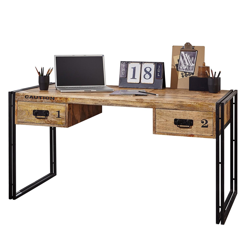 8 sparen schreibtisch iron von wolfm bel nur 379 99 cherry m bel home24. Black Bedroom Furniture Sets. Home Design Ideas