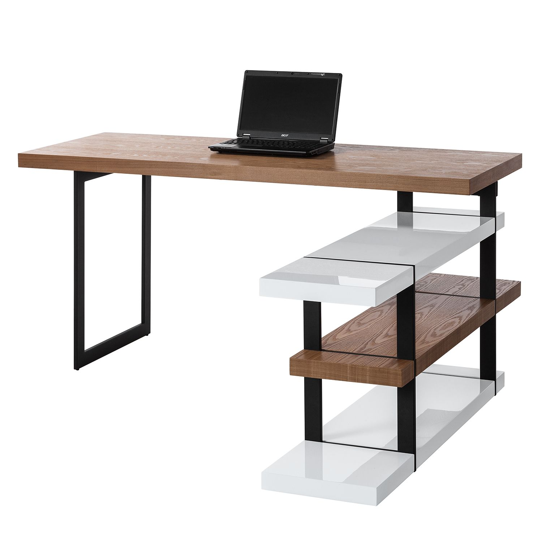 Schreibtisch wei hochglanz preisvergleich die besten for Schreibtisch 90 tief