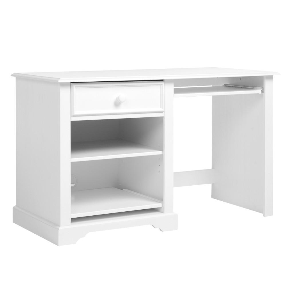 Schreibtisch La Coquette - Kiefer teilmassiv - Weiß, Maison Belfort