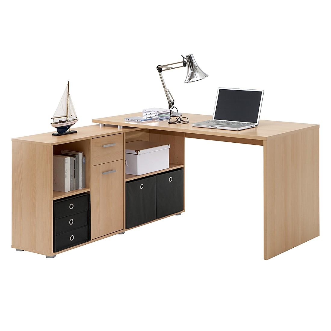 Schreibtisch largo buche dekor mooved g nstig for Eckschreibtische buche
