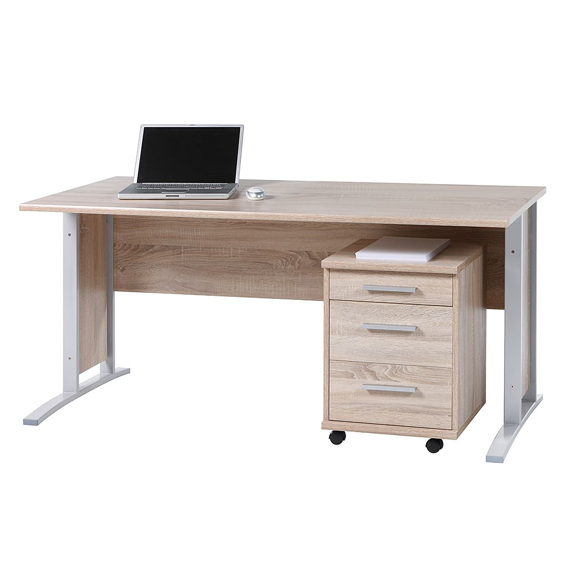 Set scrivania Massimo - Effetto quercia Sonoma Office Line, home24 office