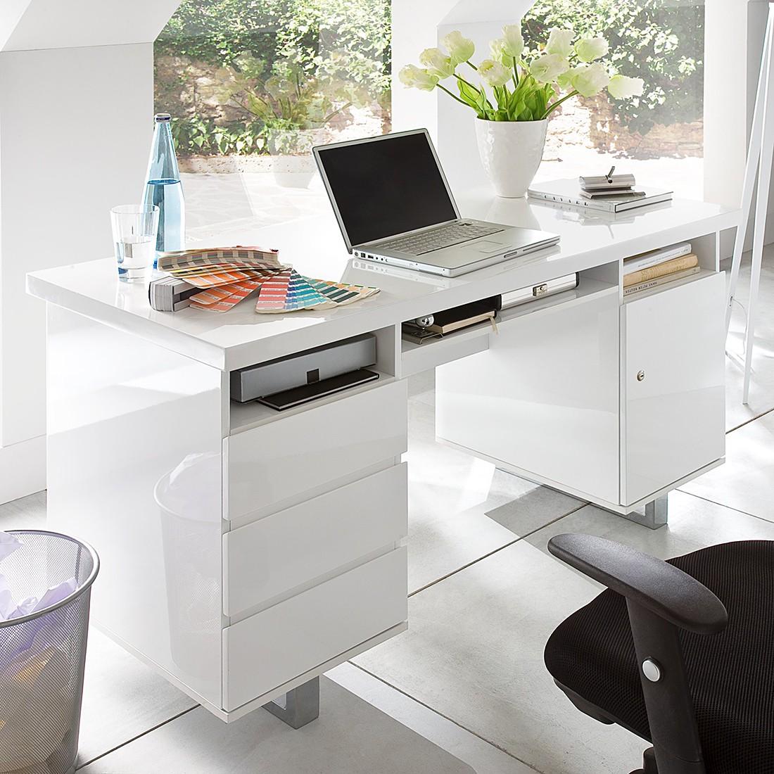 Büromöbel weiss hochglanz  home24office Bürotisch – für ein modernes Heim | home24