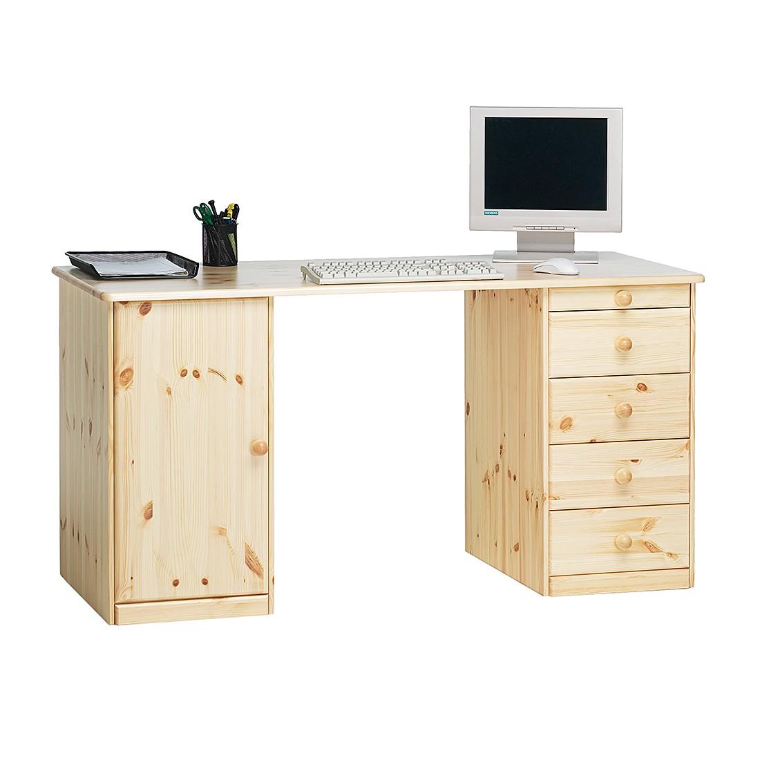 Schreibtisch Phillina I - Kiefer - Massivhaus - lackiert, Steens