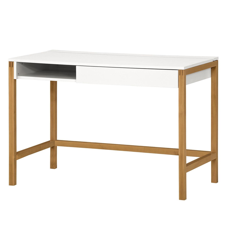 Schreibtisch Schiller - Eiche / Weiß