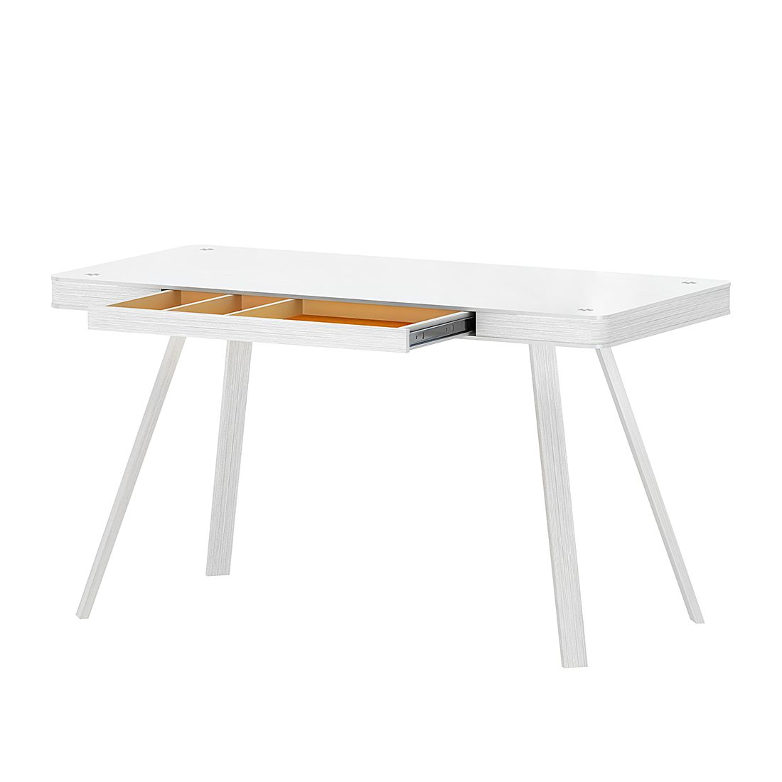 Home 24 - Bureau d angle smart desk - blanc, loftscape