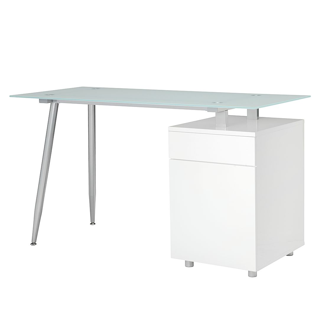 Home 24 - Bureau spic ii - blanc brillant, roomscape