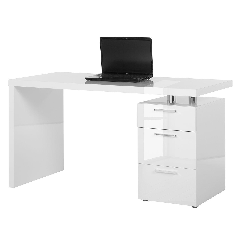 Schreibtisch weiß hochglanz 140  home24office Bürotisch – für ein modernes Heim | home24