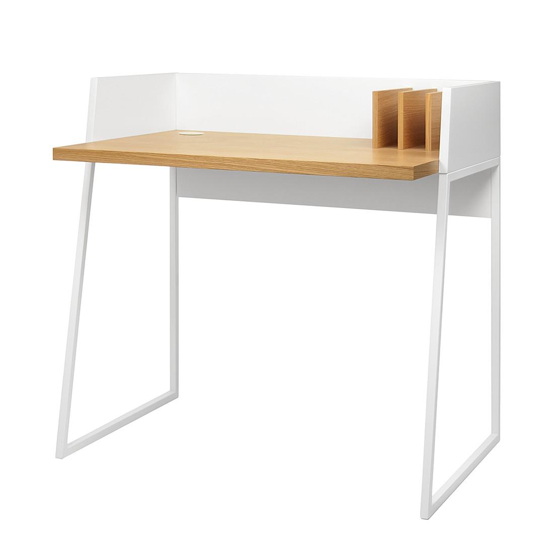 Schreibtisch Volga - Weiß / Eiche, loftscape