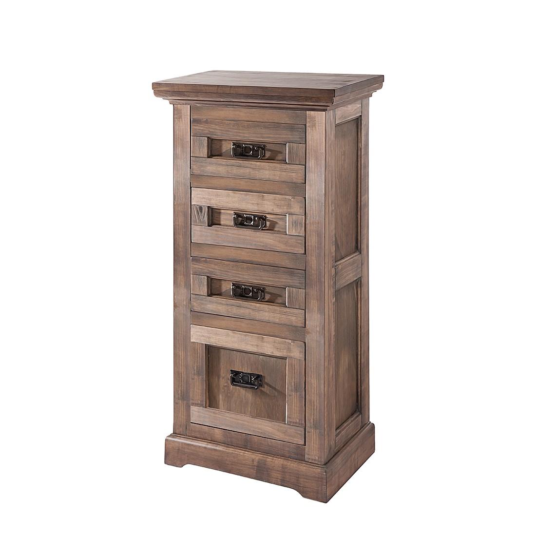 Cassettiera Kennet - Parzialmente in legno massello di tiglio spazzolato/sbiancato, Ridgevalley