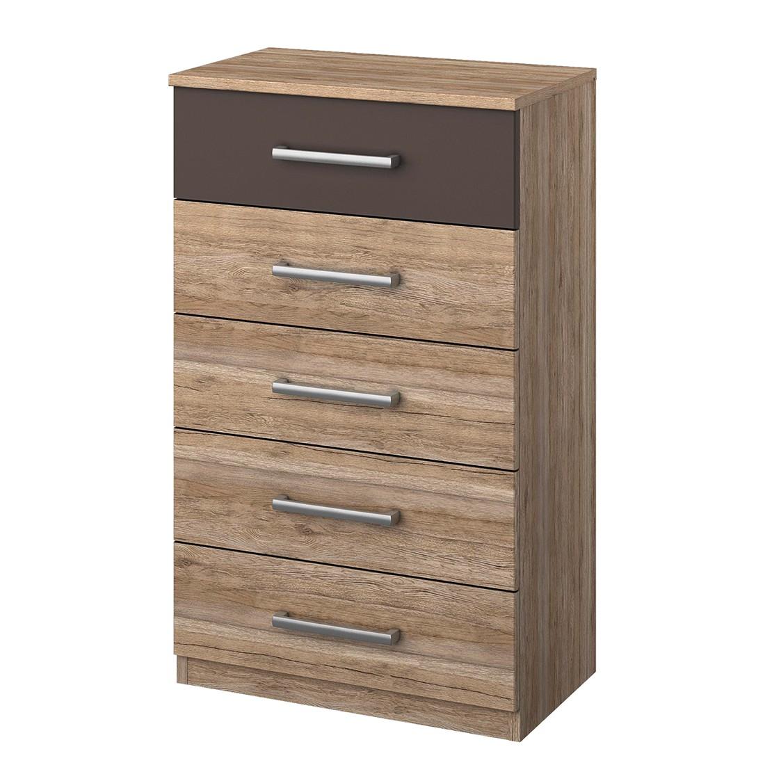 Commode à tiroirs Barelona I - Chêne de San Remo / Gris lave, Rauch Packs