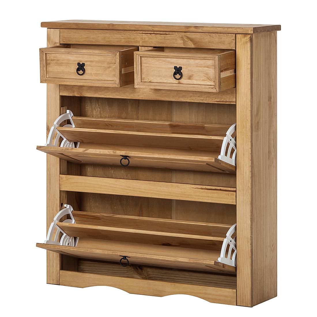 maison belfort schuhschrank finca rustica kiefer schuhkommode schuhkipper ebay. Black Bedroom Furniture Sets. Home Design Ideas