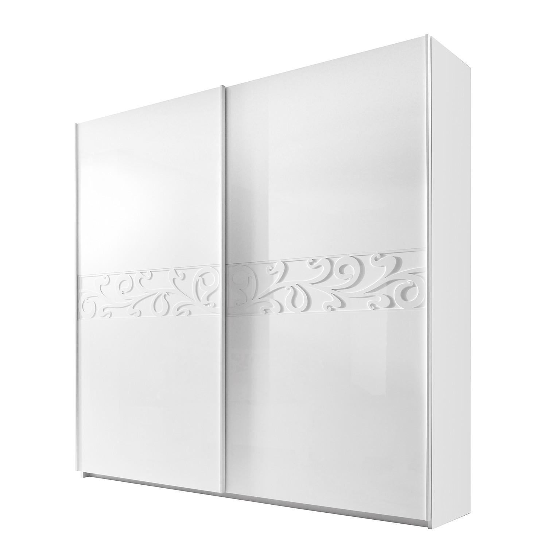 Armoire à portes coulissantes Ambrosia - Blanc brillant - 240 cm (2 portes) - 210 cm, Lc Mobili