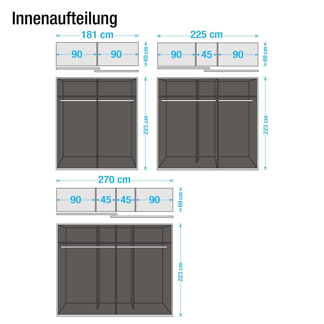 Schwebetürenschrank grau hochglanz  Rauch Select Schwebetürenschrank – für ein modernes Heim | home24