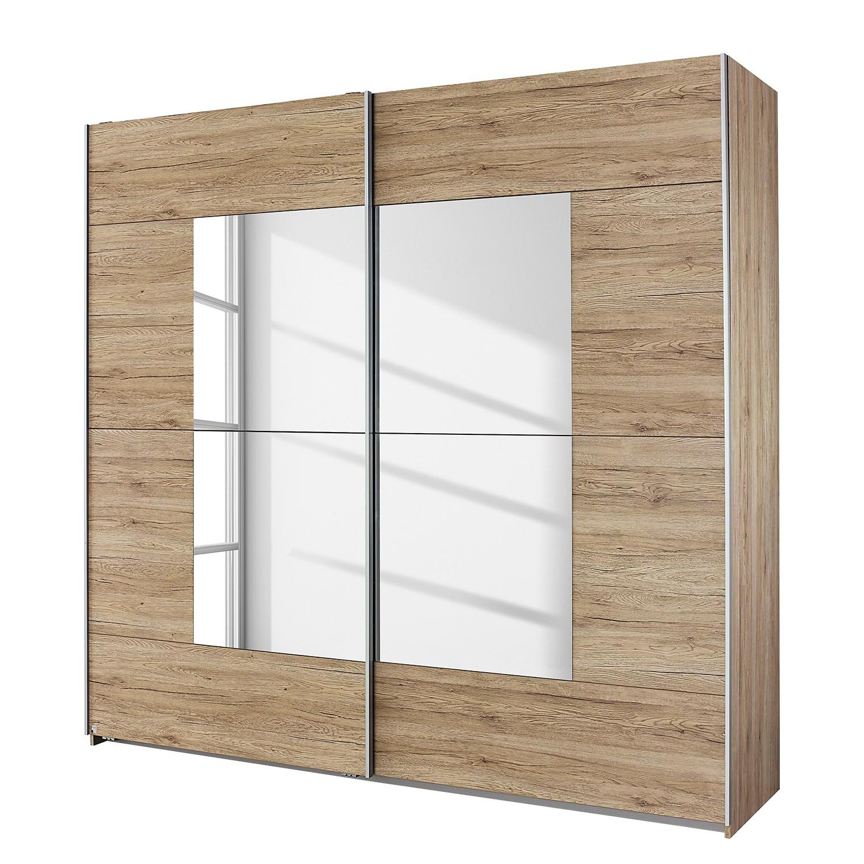 Armoire à portes coulissantes Crato - Imitation chêne de San Remo clair - 175 cm (2 portes), Rauch P