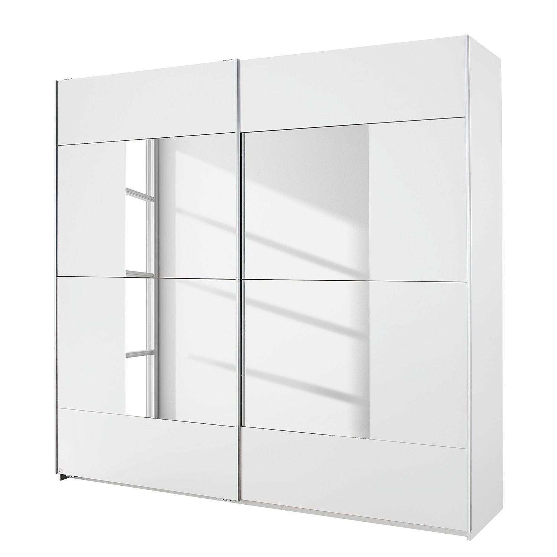 Armoire à portes coulissantes Crato - Blanc alpin / Verre de miroir - 175 cm (2 portes), Rauch Packs
