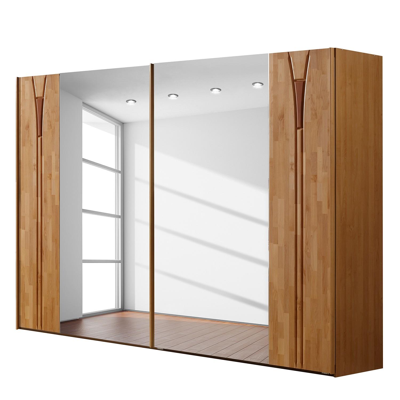 Armoire à portes coulissantes Florenz - Aulne partellement massif - Sans éclairage - 250 cm (2 porte