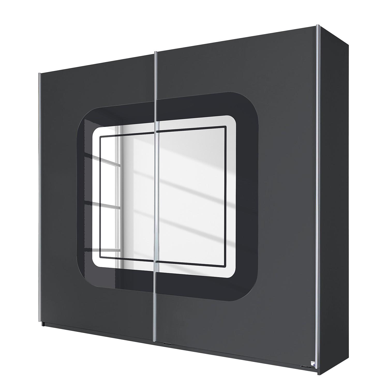 Zweefdeurkast Greding - Metallic grijs/basalt glas - 271cm (3-deurs), Rauch Packs