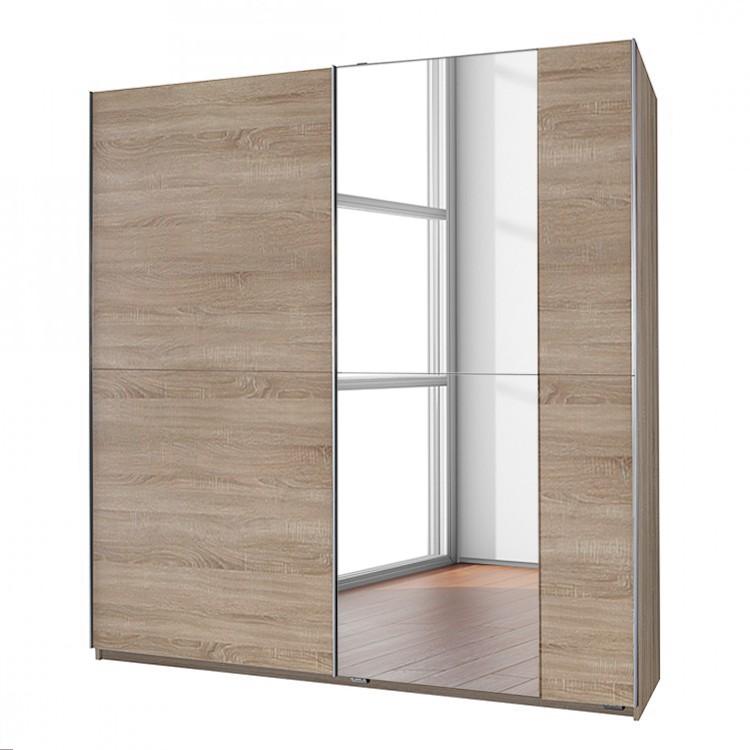 Armoire à portes coulissantes Fashion Star - 1 miroir sur la façade - Chêne brut de sciage, Wimex