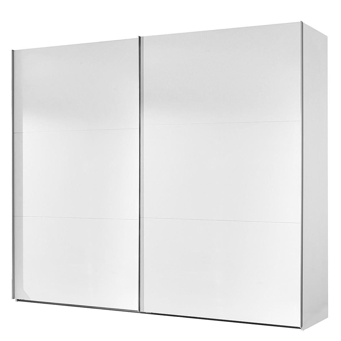 Armoire à portes coulissantes Medley - Blanc alpin - Largeur x hauteur : 225 x 210 cm - 2 portes, Wi