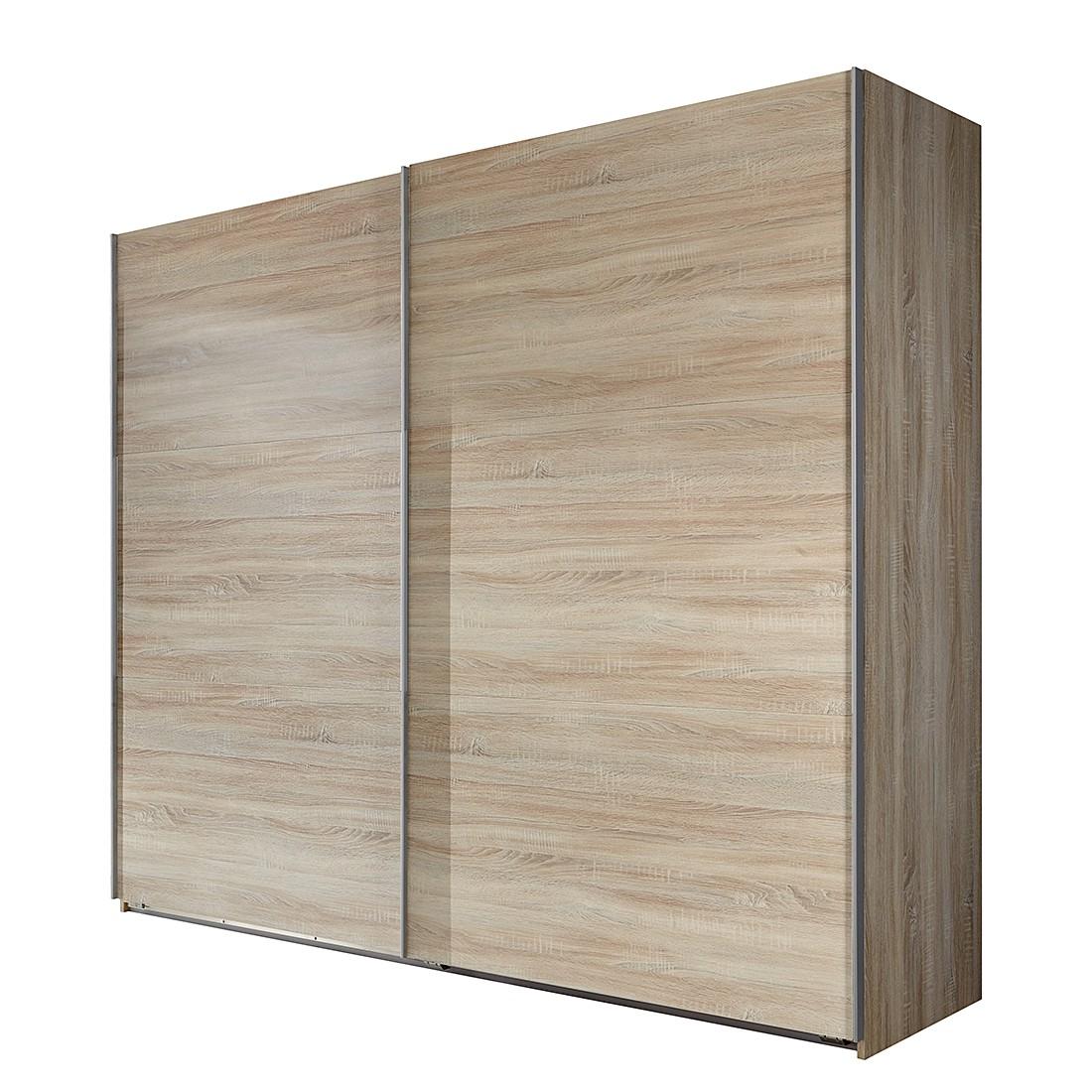 Armoire à portes coulissantes Medley - Imitation chêne brut de sciage - Largeur x hauteur : 270 x 21