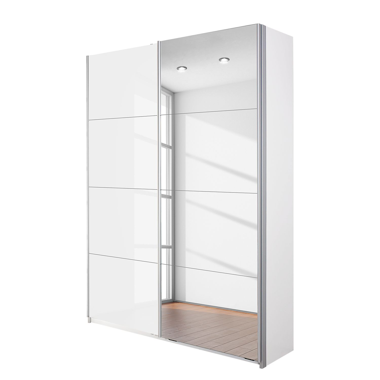 Armoire à portes coulissantes Minosa - Blanc alpin / Blanc brillant - 181 cm (2 portes), Rauch Packs