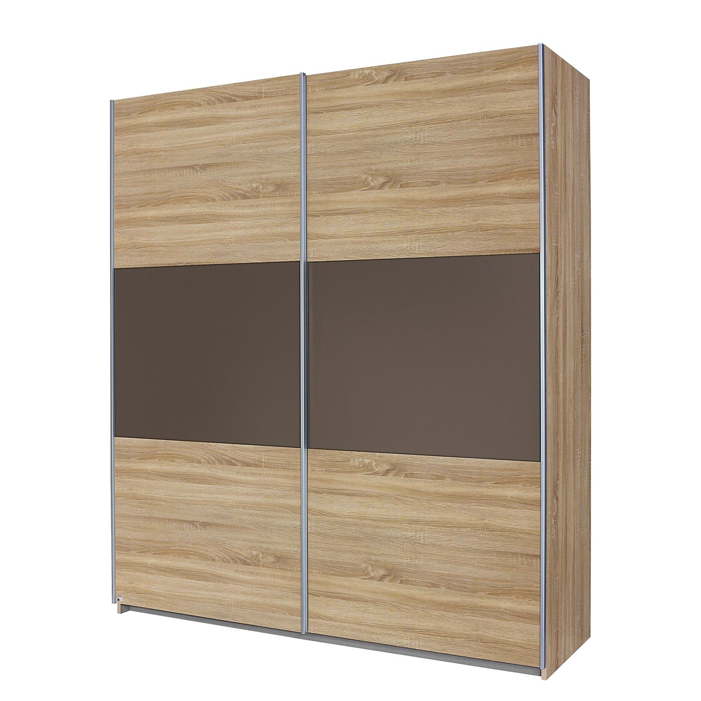 Armoire à portes coulissantes Nelas - Imitation chêne de Sonoma / Lava, Rauch Packs