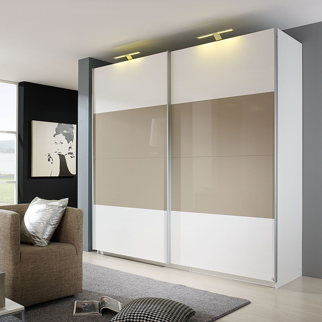 Schwebetürenschrank grau hochglanz  Rauch Select Schwebetürenschrank – für ein modernes Heim   Home24