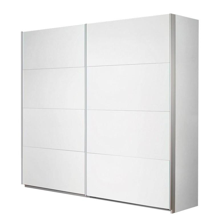 Armoire à portes coulissantes Quadra II - Blanc alpin - 181 cm (2 portes) - 210 cm, Rauch