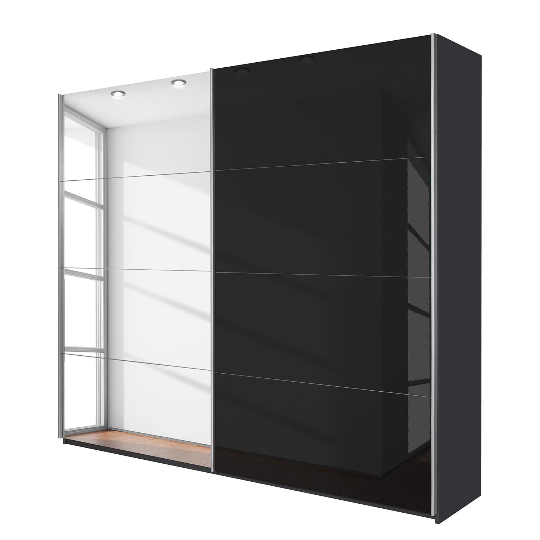 Schuifdeurkast Quadra (spiegel) - Grau-metallic grijs metallic (BxH): 181x230cm, Rauch Packs