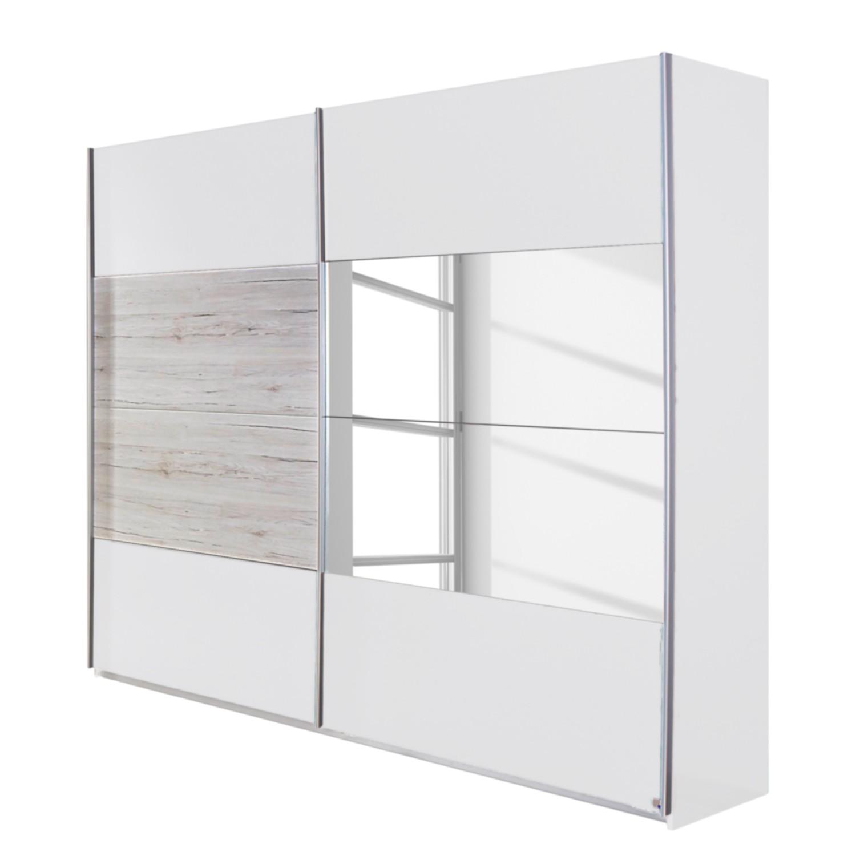 Schuifdeurkast Saragossa - Alpinewit/wit San Remo eikenhouten look - 271cm (2-deurs), Rauch Packs