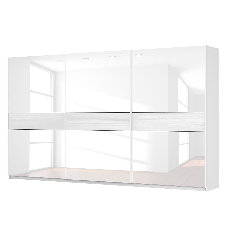 Zweefdeurkast Skøp - alpinewit/wit glas - 405cm (3-deurs) - 236cm - Basic, SKØP