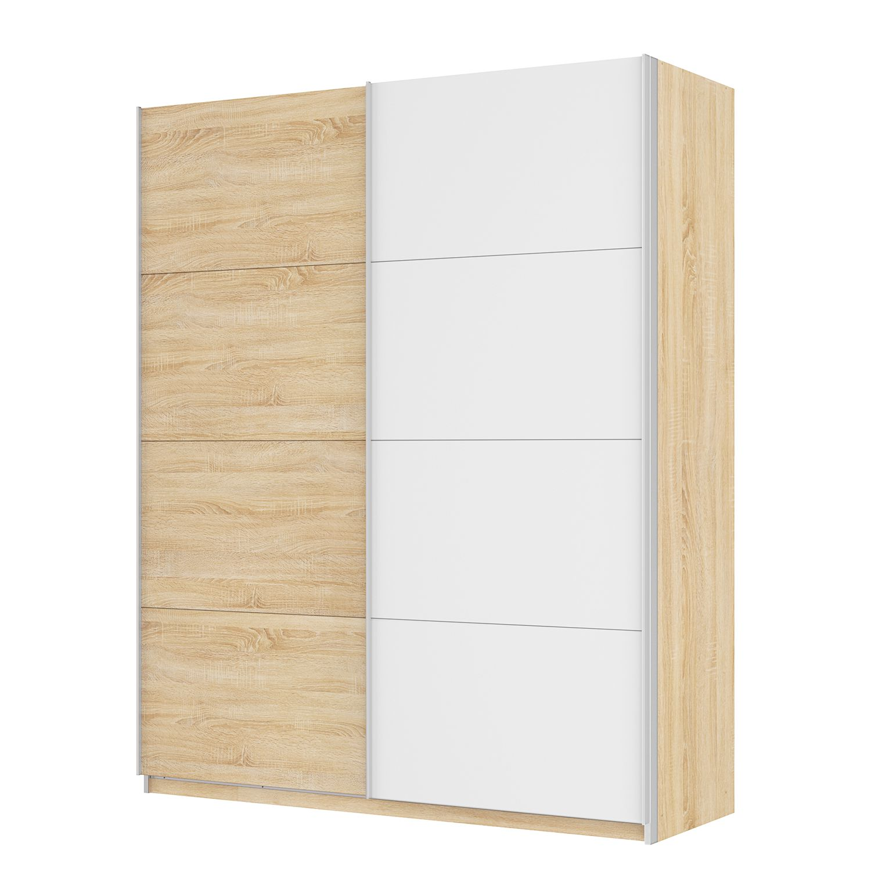 Armoire à portes coulissantes Skøp - Imitation chêne de Sonoma / Blanc alpin - 181 cm (2 portes) - 2