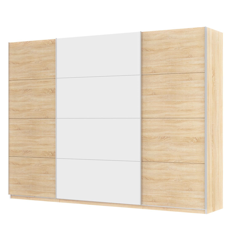 Zweefdeurkast Skøp - Sonoma eikenhouten look/alpinewit - 315cm (3-deurs) - 236cm - Comfort, SKØP