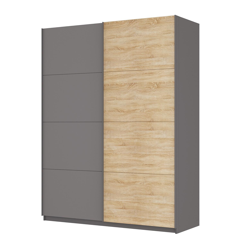 schwebet renschrank sk p graphit eiche sonoma dekor 181 cm 2 t rig 236 cm premium. Black Bedroom Furniture Sets. Home Design Ideas
