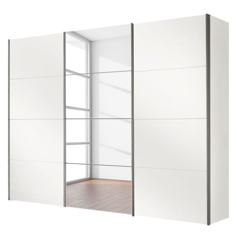 Armoire à portes coulissantes Four You I - Blanc polaire / Miroir, Express Möbel