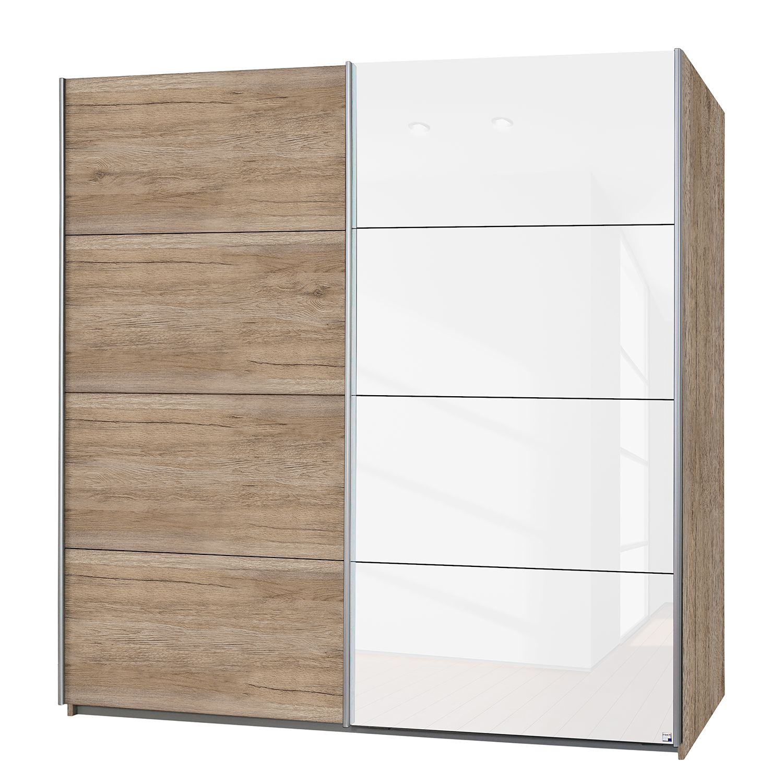 Armoire à portes coulissantes Subito-Color - Imitation chêne de San Remo / Blanc - 136 cm (2 portes)
