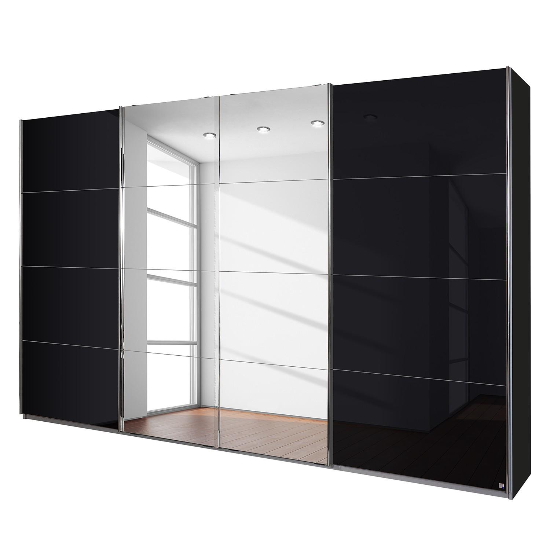 Zweefdeurkast Syncrono-C I - metallic grijs/basaltkleurig glas - 361 cm (4-deurs) - 230cm, Rauch Packs