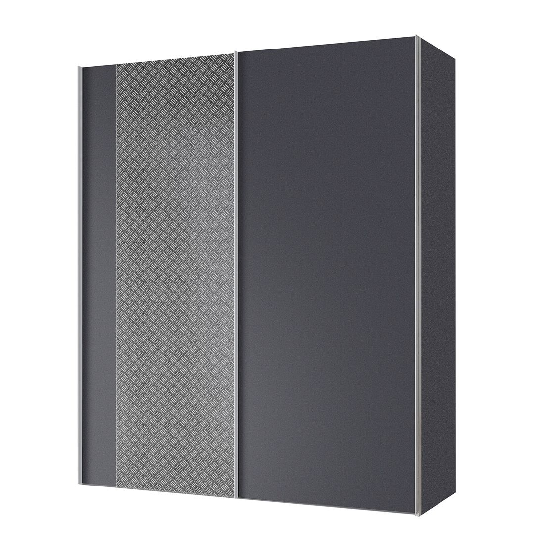 armoire portes coulissantes cando gris graphite 150 cm 2 portes. Black Bedroom Furniture Sets. Home Design Ideas