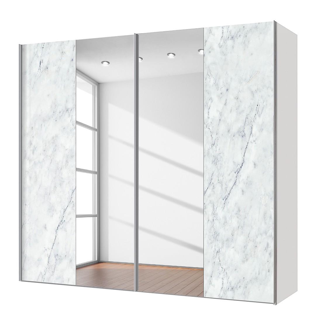 rabatt schwebet renschrank cando marmor dekor spiegel 200 cm 2 t rig. Black Bedroom Furniture Sets. Home Design Ideas