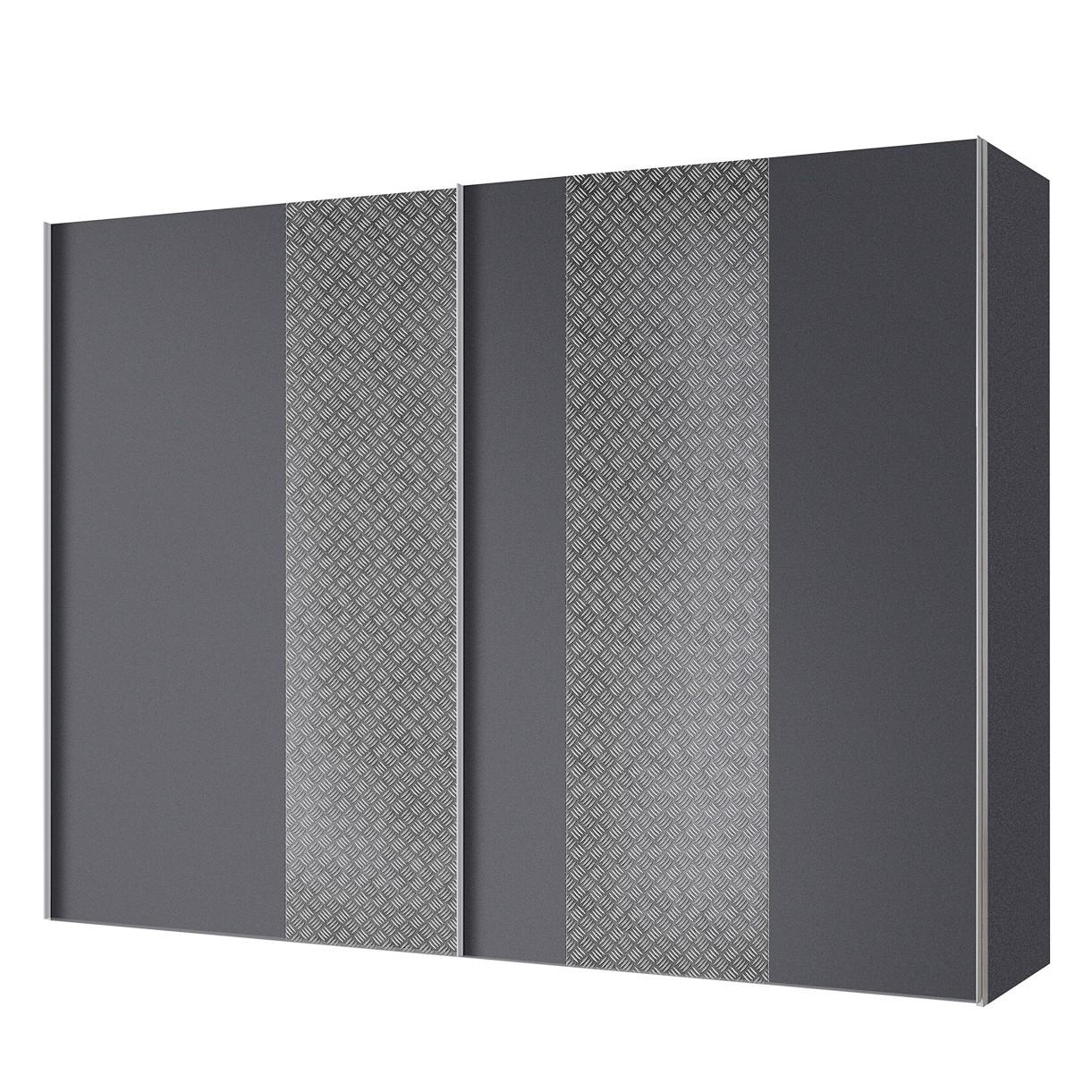 Armoire à portes coulissantes Cando - Gris / Graphite - 300 cm (2 portes), Express Möbel