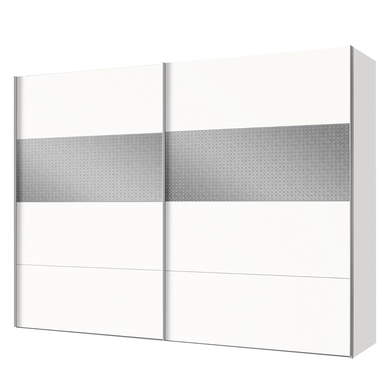 Armoire à portes coulissantes Vicksburg - Blanc alpin / Gris - 250 cm (2 portes), Express Möbel