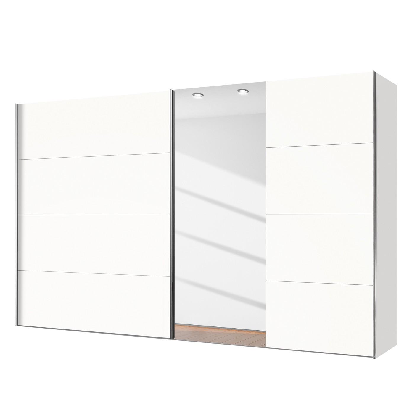 Schuifdeurkast Willows - Poolwit/Spiegelglas - 300cm (2-deurs), Express Möbel