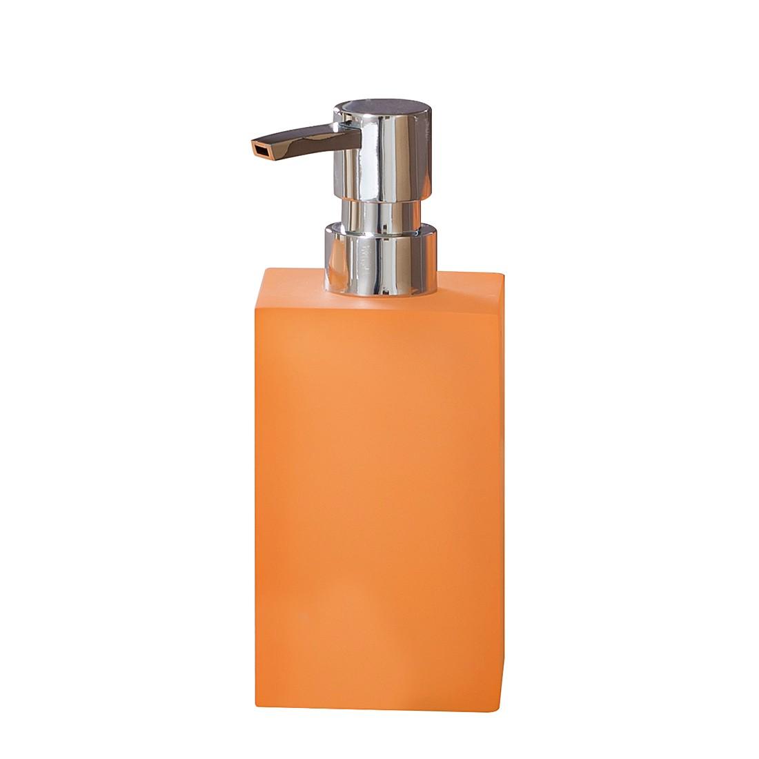 Zeepdispenser Cube - mandarijnkleurig, Nicol Wohnausstattungen