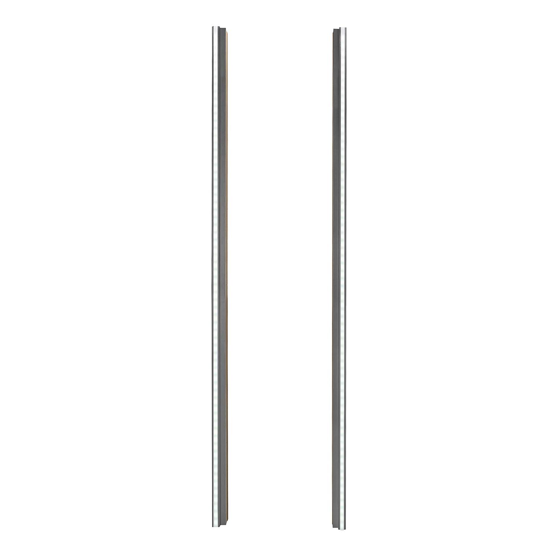 Seitliche Beleuchtung Drehtürenschrank - Graphit - 222 cm